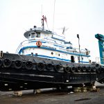 Geo Gradel & Co. for Tug JOHN FRANCIS at Great Lakes Shipyard in January 2017