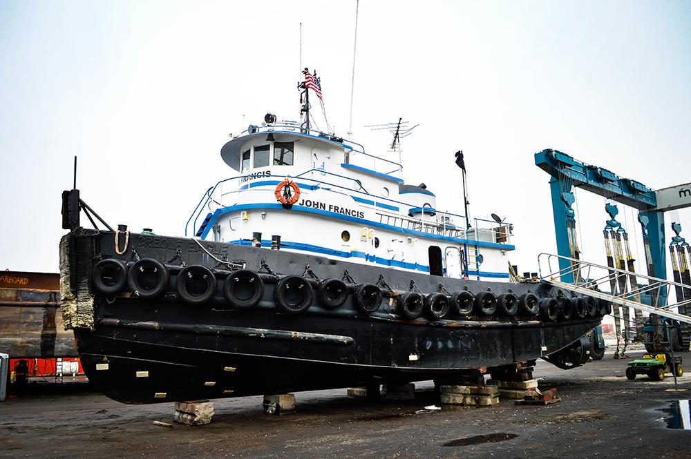 Geo Gradel & Co. for Tug JOHN FRANCIS at Great Lakes Shipyard in January 2017