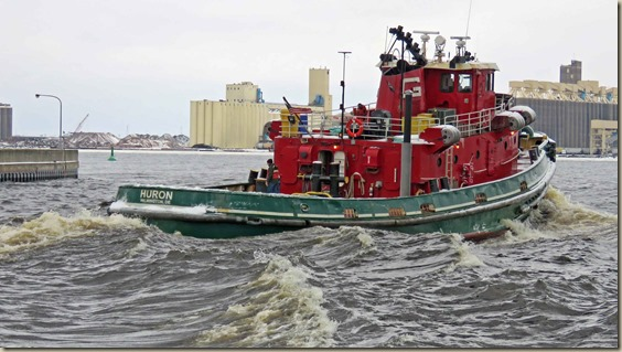 The Great Lakes Towing Company Repositions Tug HURON to
