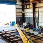 Parts for new overhead crane