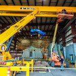 Equipment for new overhead crane install