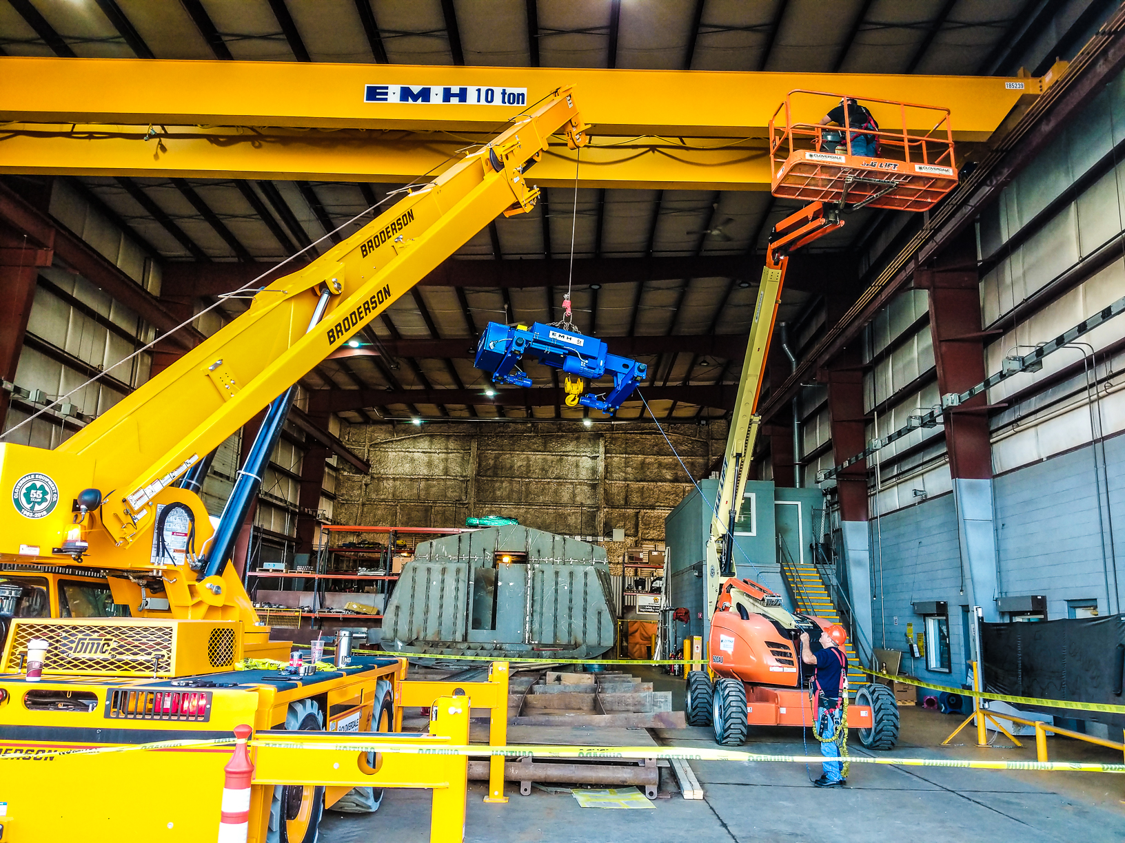 Shipyard Installs New Overhead Bridge Crane » The Great
